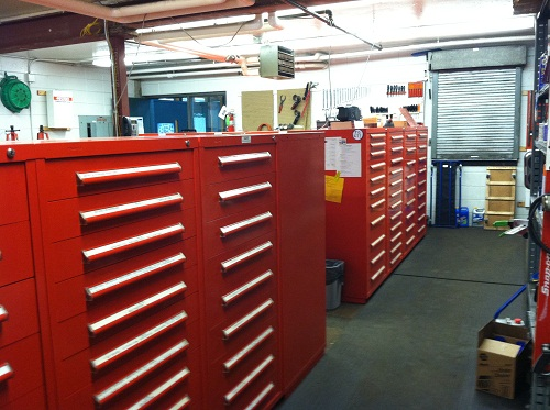 South Side of Tool Storage Room
