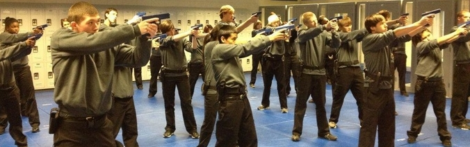 Students learning gun safety