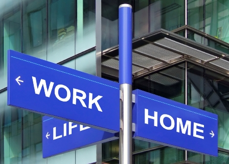 work life street sign photo