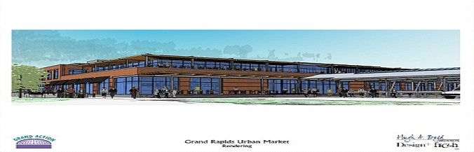 Artists rendering of the Grand Rapids Downtown Market.
